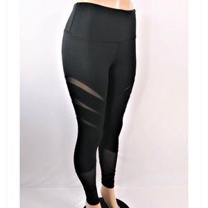 Yogalicious High waisted leggings w/ mesh inserts